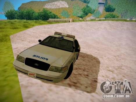 Ford Crown Victoria Toronto Police Service para GTA San Andreas esquerda vista