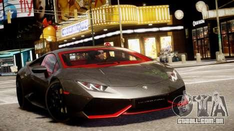 Lamborghini Huracan LP610-4 SuperTrofeo para GTA 4 vista interior