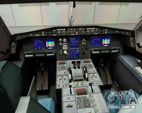 Airbus A340-313 Etihad Airways para GTA San Andreas vista inferior