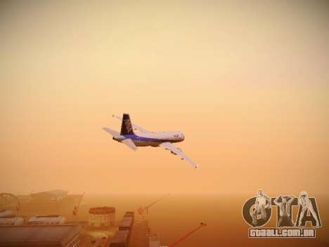 Airbus A320-211 All Nippon Airways para GTA San Andreas vista interior