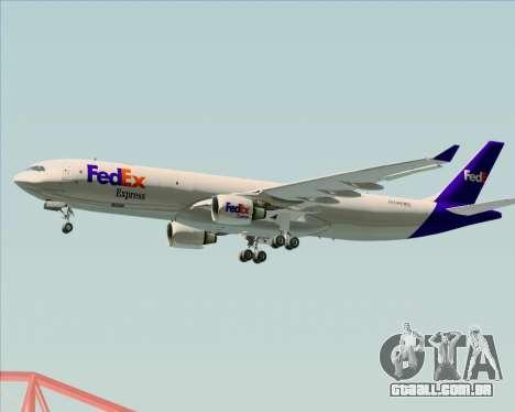 Airbus A330-300P2F Federal Express para GTA San Andreas traseira esquerda vista