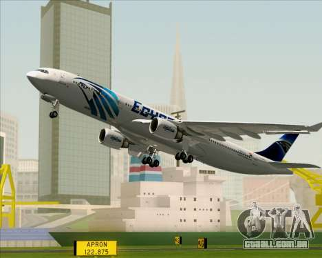 Airbus A330-300 EgyptAir para as rodas de GTA San Andreas