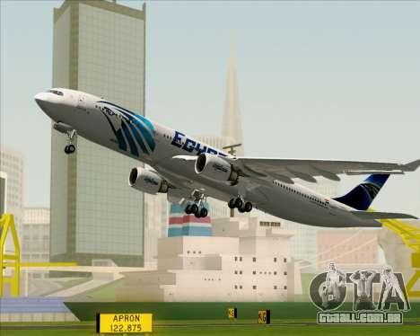 Airbus A330-300 EgyptAir para as rodas de GTA San Andreas