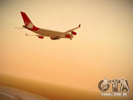 Airbus A340-300 Virgin Atlantic para GTA San Andreas vista interior