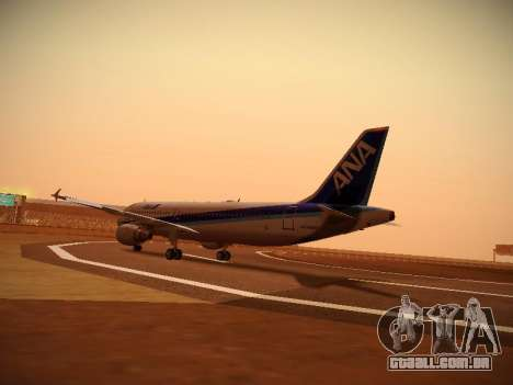 Airbus A320-211 All Nippon Airways para GTA San Andreas vista direita