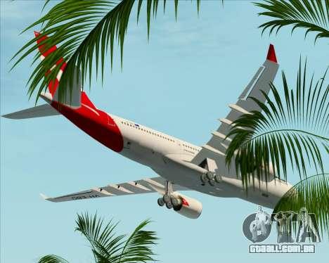 Airbus A330-200 Qantas para GTA San Andreas vista inferior