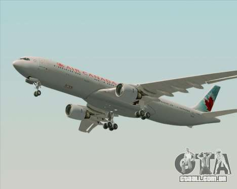 Airbus A330-300 Air Canada para vista lateral GTA San Andreas