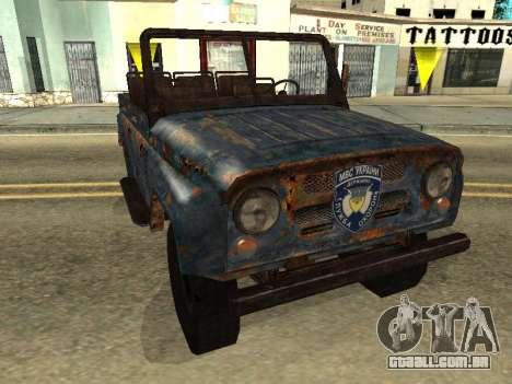 Polícia UAZ de Stalker para GTA San Andreas
