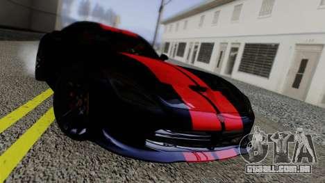 Dodge Viper SRT GTS 2013 Road version para GTA San Andreas vista interior