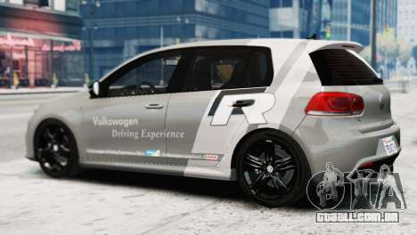 Volkswagen Golf R 2010 Driving Experience para GTA 4 esquerda vista