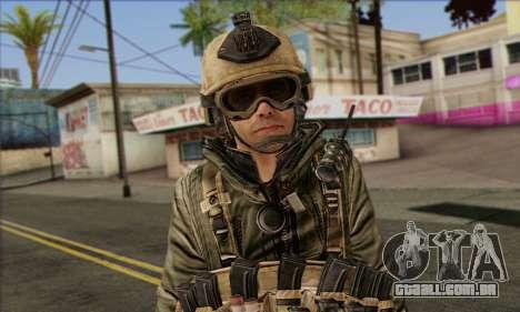 Task Force 141 (CoD: MW 2) Skin 17 para GTA San Andreas terceira tela