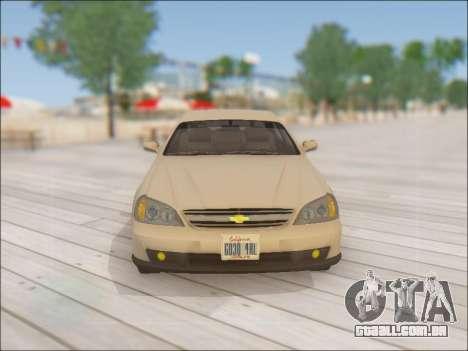 Chevrolet Evanda para GTA San Andreas vista superior