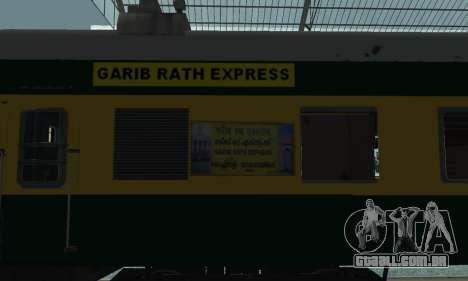 Garib Rath Express para GTA San Andreas vista direita