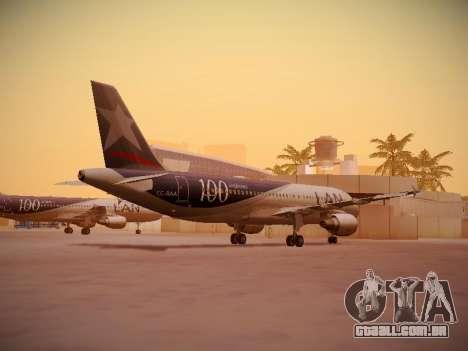 Airbus A320-214 LAN Airlines 100th Plane para GTA San Andreas vista direita