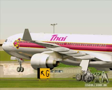 Airbus A330-300 Thai Airways International para as rodas de GTA San Andreas