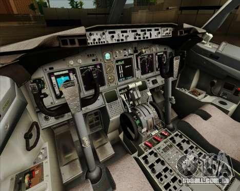 Boeing 737-890 Alaska Airlines para GTA San Andreas interior