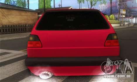 Volkswagen Golf Mk2 Low Life para GTA San Andreas vista direita