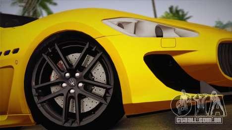 Maserati Gran Turismo MC Stradale para GTA San Andreas traseira esquerda vista
