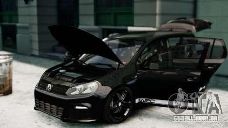 Volkswagen Golf R 2010 Polo WRC Style PJ1 para GTA 4 vista direita