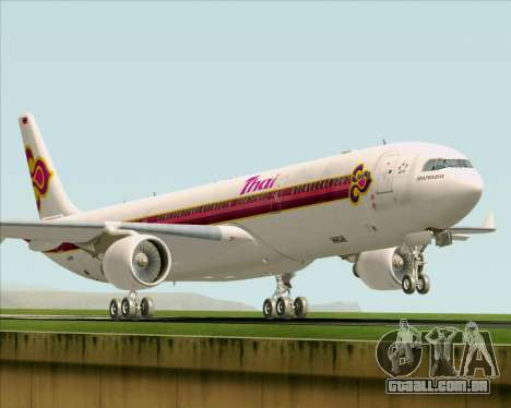 Airbus A330-300 Thai Airways International para GTA San Andreas esquerda vista