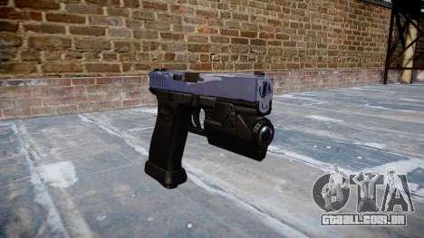 Pistola Glock de 20 blue tiger para GTA 4