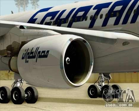 Airbus A330-300 EgyptAir para GTA San Andreas vista inferior