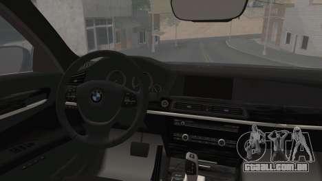 BMW F01 750Li 2009 para GTA San Andreas esquerda vista