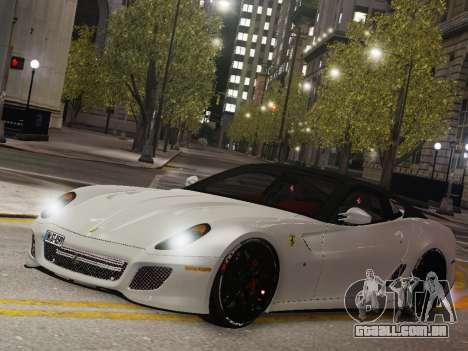 Ferrari 599 GTO para GTA 4 traseira esquerda vista