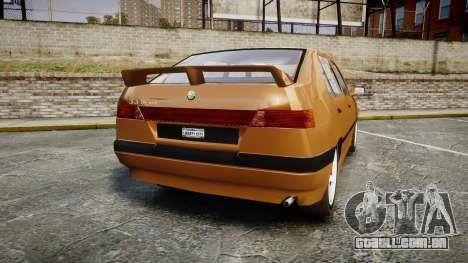Alfa Romeo 33 1991 para GTA 4 traseira esquerda vista