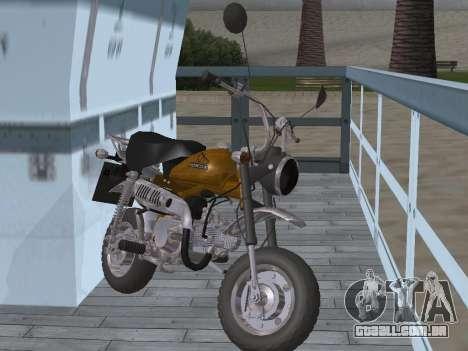 Honda Z50J Monkey para GTA San Andreas vista traseira
