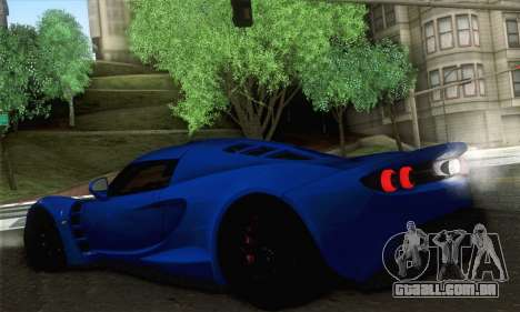 Hennessey Venom GT para GTA San Andreas traseira esquerda vista