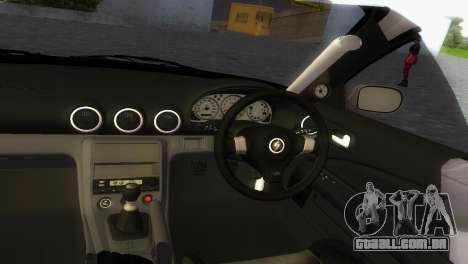 Nissan Silvia S15 TUNING JDM para GTA Vice City vista traseira