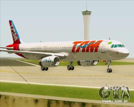 Airbus A321-200 TAM Airlines para GTA San Andreas esquerda vista