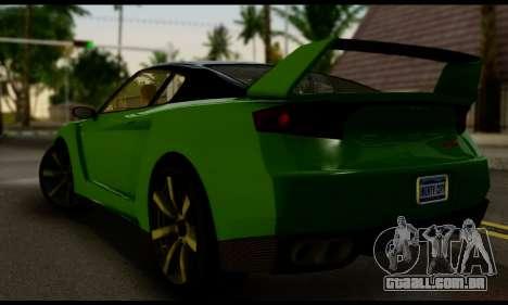 GTA V Elegy RH8 Twin-Turbo (IVF) para GTA San Andreas esquerda vista