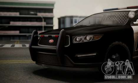 Vapid Police Interceptor from GTA V para GTA San Andreas vista direita