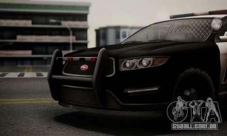 Vapid Police Interceptor from GTA V para GTA San Andreas vista direita