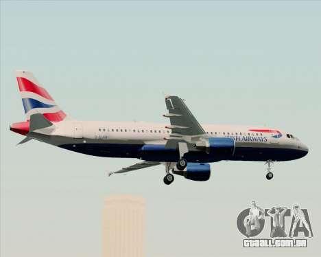 Airbus A320-232 British Airways para GTA San Andreas vista inferior