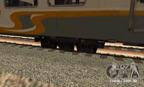 K1 Argo Traincar Indonésio para GTA San Andreas traseira esquerda vista