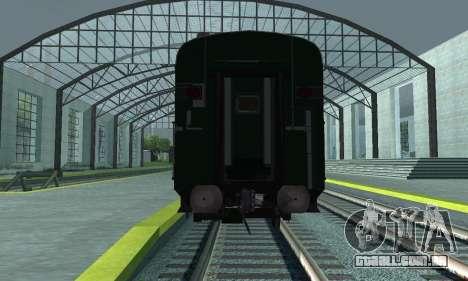 Garib Rath Express para GTA San Andreas vista interior