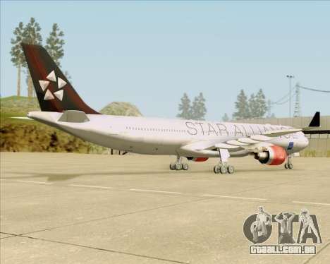 Airbus A330-300 SAS (Star Alliance Livery) para GTA San Andreas vista traseira