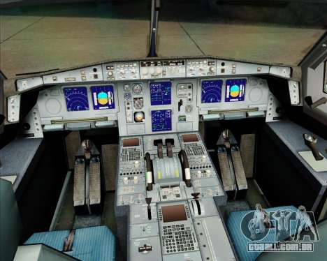 Airbus A340-311 House Colors para GTA San Andreas interior