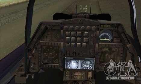 F-16D Block 60 para GTA San Andreas traseira esquerda vista