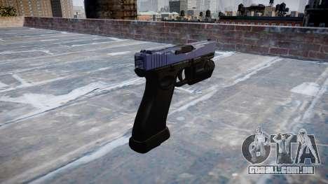 Pistola Glock de 20 blue tiger para GTA 4 segundo screenshot