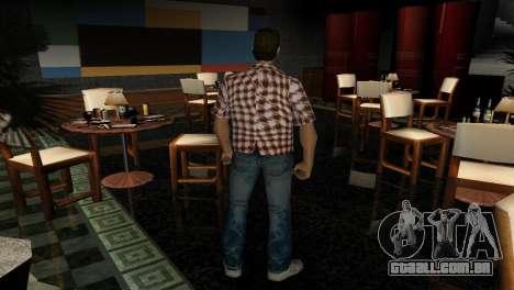 Kockas polo - narancs sarga T-Shirt para GTA Vice City terceira tela