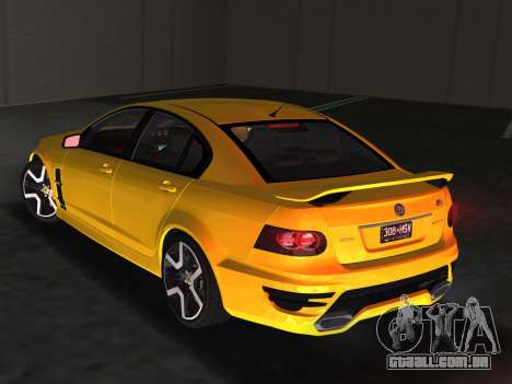 Holden HSV GTS 2011 para GTA Vice City
