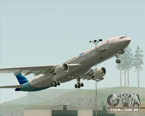 Airbus A330-300 Garuda Indonesia para GTA San Andreas vista inferior