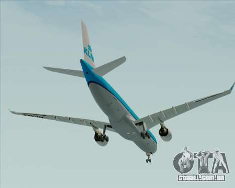 Airbus A330-300 KLM Royal Dutch Airlines para GTA San Andreas vista superior