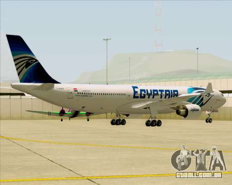 Airbus A330-300 EgyptAir para GTA San Andreas vista interior