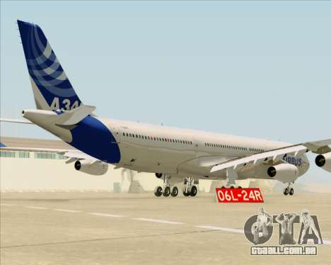 Airbus A340-311 House Colors para GTA San Andreas vista direita