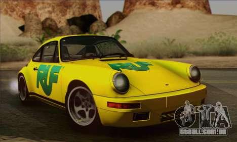RUF CTR Yellowbird 1987 para vista lateral GTA San Andreas
